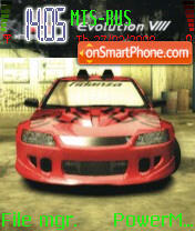 NFS MW Lancer Evolution 8 theme screenshot