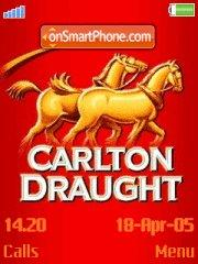 Carlton Draught theme screenshot