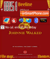 Johnnie Walked theme screenshot