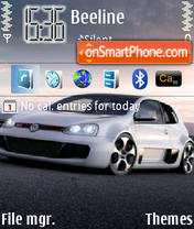 Скриншот темы VW Golf GTI Concept W12