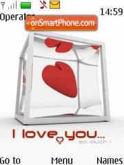 I Love U Valenti Gift es el tema de pantalla
