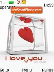 I Love U Valenti Gift theme screenshot