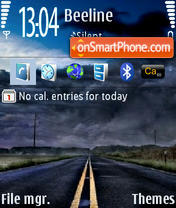 Road 240x320 theme screenshot