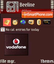Vodafonedark theme screenshot