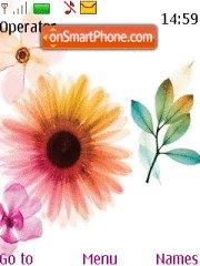 Flower tema screenshot
