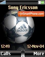 Adidas Ball theme screenshot