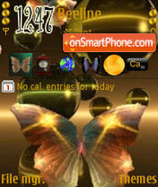 Butterfly In Green theme screenshot