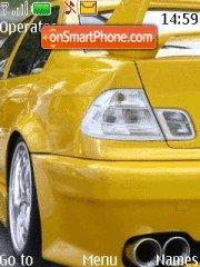Скриншот темы BMW Yellow