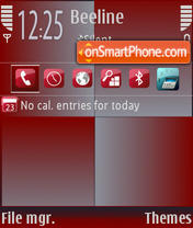 RedSquares theme screenshot