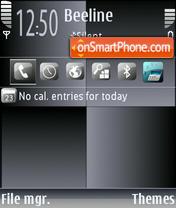 BlackSquares theme screenshot