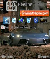 Скриншот темы Lamborghini Reventon