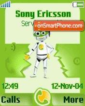 Moby Green theme screenshot