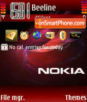 Nokia 7614 theme screenshot