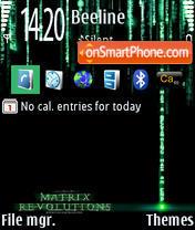 Matrix 240x320 es el tema de pantalla