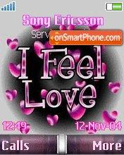 I feel love tema screenshot