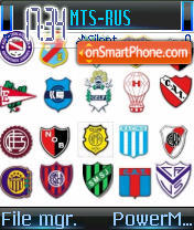 Futbol Argentino theme screenshot