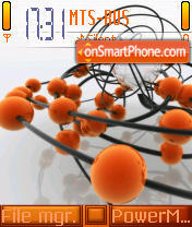 Orange Balls theme screenshot