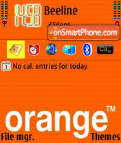 Orange 09 theme screenshot