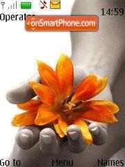 Orange Flower theme screenshot