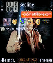 LOTR theme screenshot