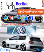 VW Golf Gti W12 theme screenshot