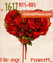 Love Rose 01 es el tema de pantalla