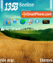 Скриншот темы Nature 16
