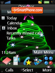 iPhone Black Cristmass Tree es el tema de pantalla