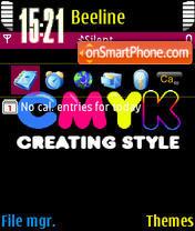 Скриншот темы Cmyk