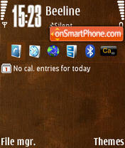 Brown by M&G theme screenshot