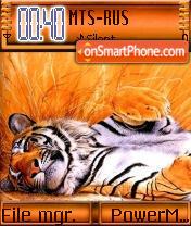Resting Tiger es el tema de pantalla