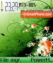 Green Art 01 tema screenshot