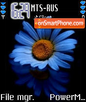 Blue Flower 03 es el tema de pantalla