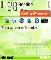 Green Diamonds theme screenshot