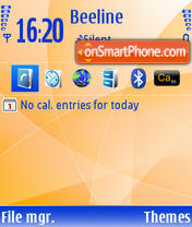 Blue And Orange Default es el tema de pantalla