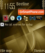 Bronze Cubic V2 theme screenshot