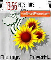 SunFlowers theme screenshot