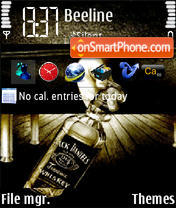 Jack Daniel Alcohol Killz theme screenshot