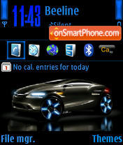 Скриншот темы BlackCars 240X320