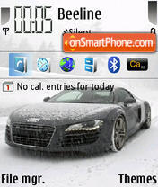Audi R8 05 theme screenshot