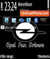 Opel 01 theme screenshot