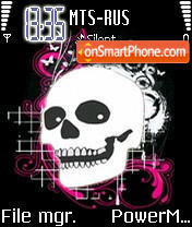 Emo Skull tema screenshot