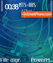 S60 Music Edition Blue S60v2 es el tema de pantalla