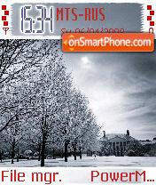 Winter Scene tema screenshot