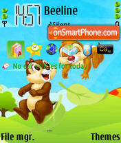 Cute Chip N Dale theme screenshot