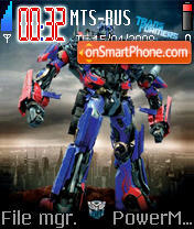 Transformer Optimus Prime theme screenshot