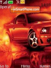 Скриншот темы Red Mustang