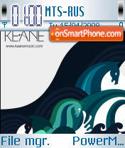 Keane theme screenshot