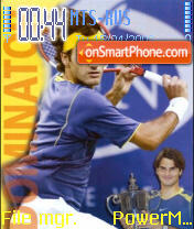 Roger Federer theme screenshot