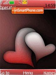 Abstract Love Hearts tema screenshot
